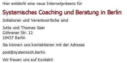 Systemisches Coaching und Beratung in Berlin